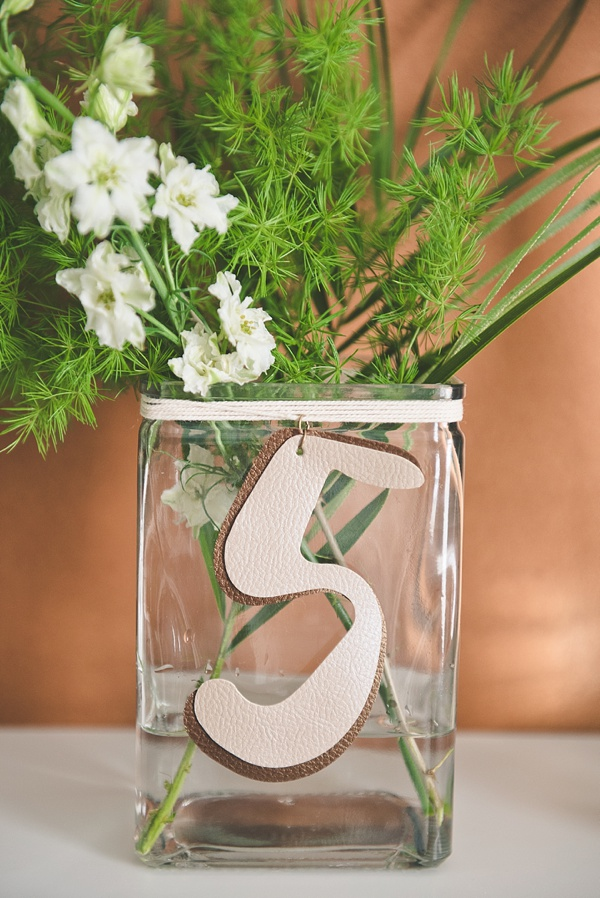 Tidewater and Tulle - DIY Faux Leather Table Numbers with Cricut Explore