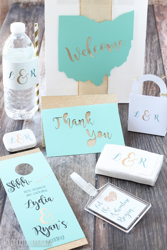 Lydia Out Loud - DIY WEdding Guest Welcome Bag Kit with Cricut Explore