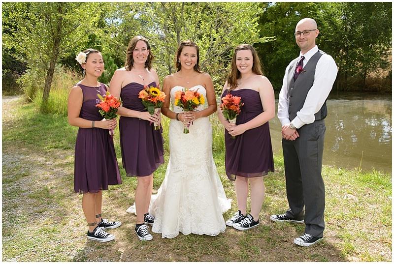 purple bridesmaid attire