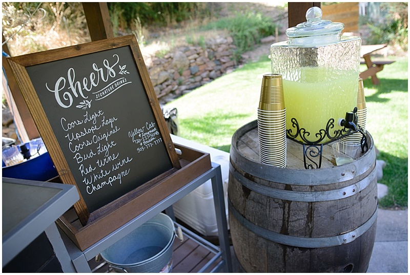 wedding beverages