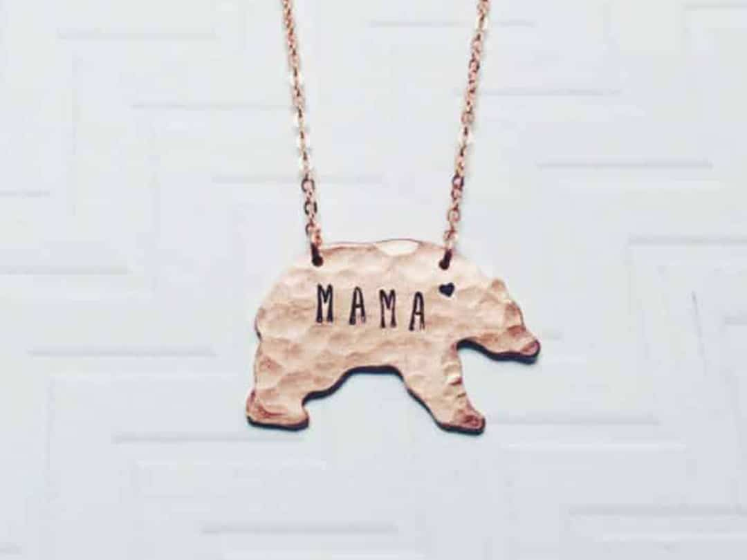 Mama Bear Necklace by TristarCustomDesigns