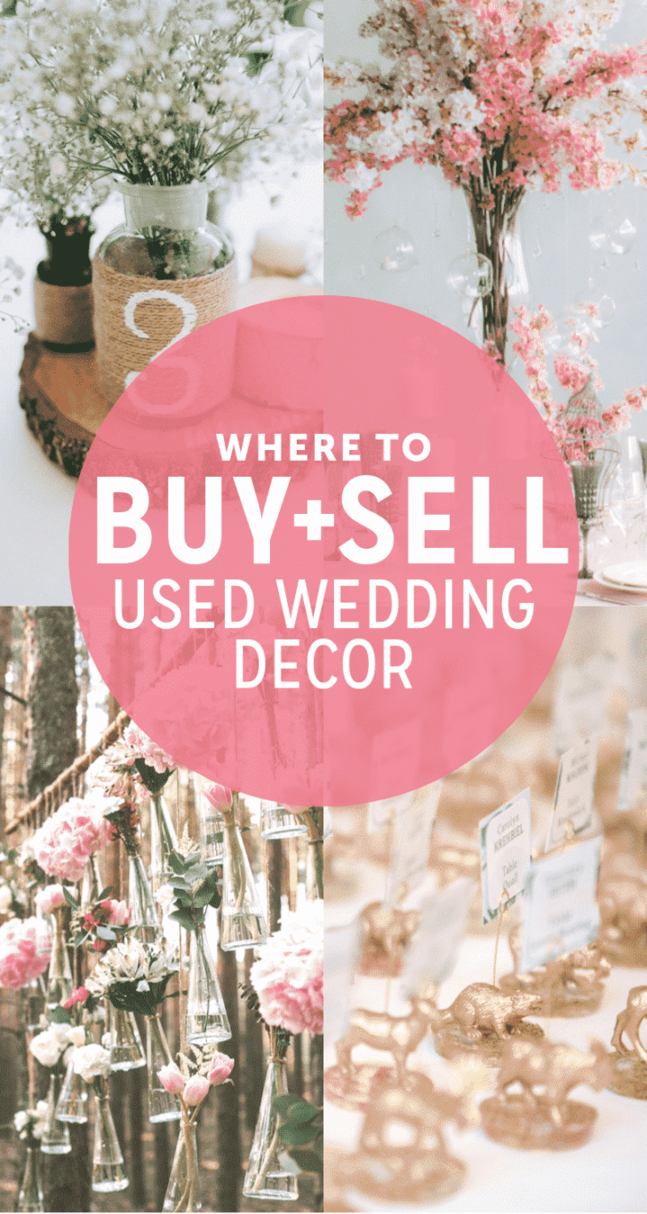 where to buy or sell used wedding decor
