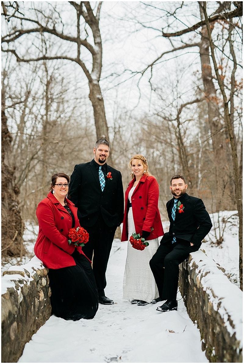 winter wedding party attire