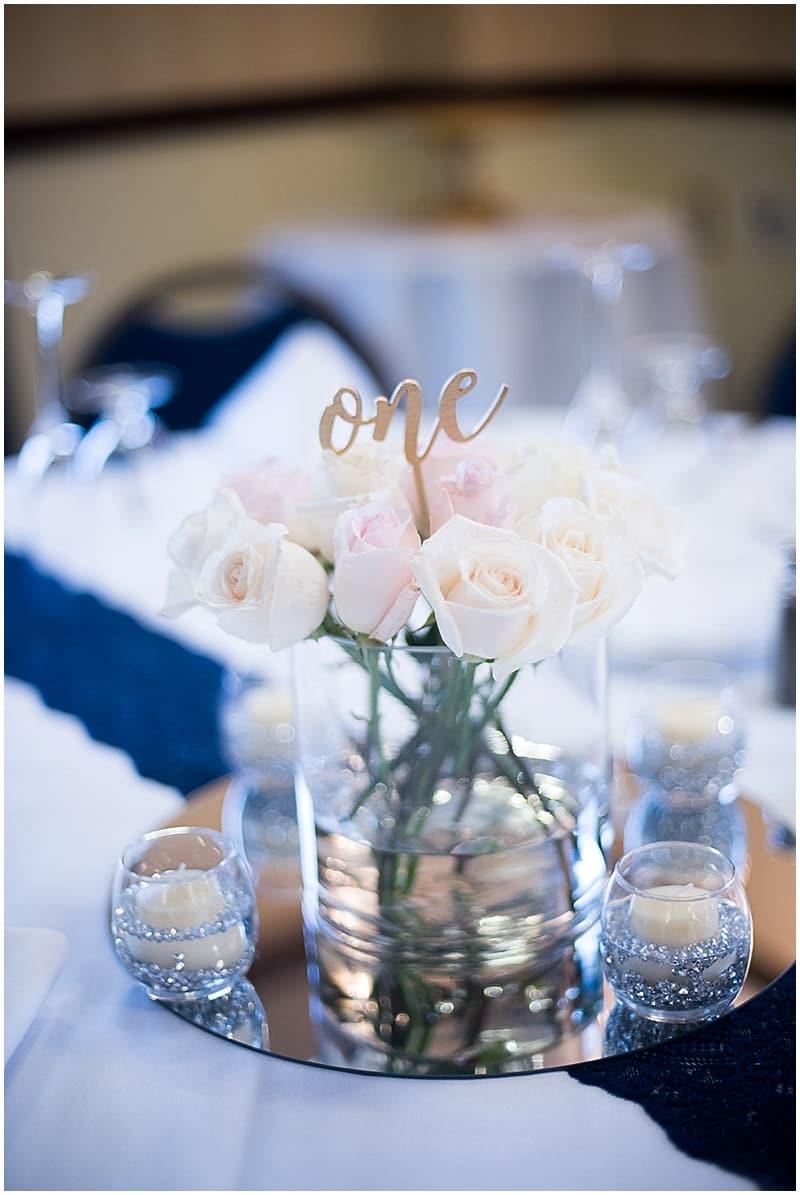 white rose wedding decor