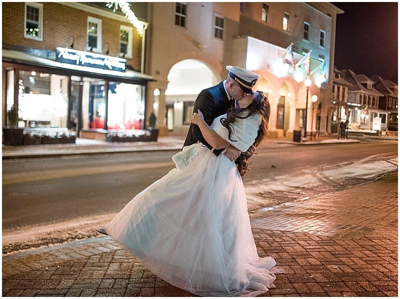 evening wedding photos