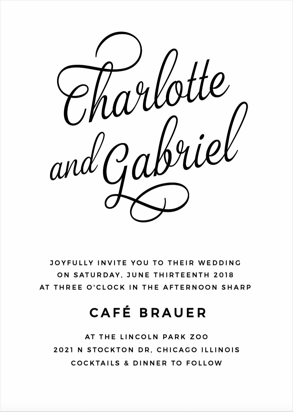 Script Emblem Wedding Invitations