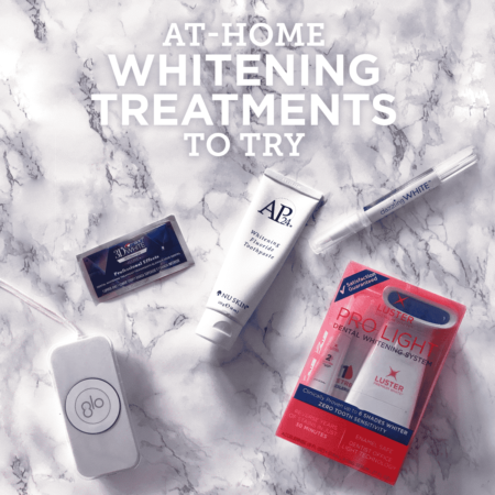 at-home teeth whitening treatments