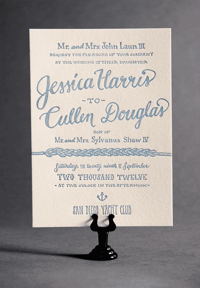 Wedding Invitations on a Budget: Ladyfingers Letterpress
