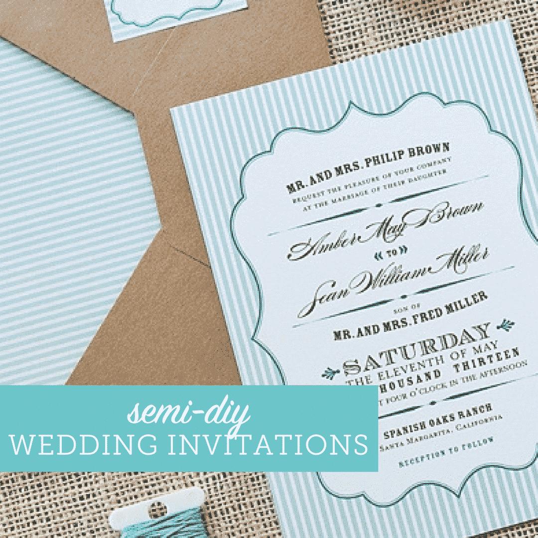 semi-diy wedding invitations