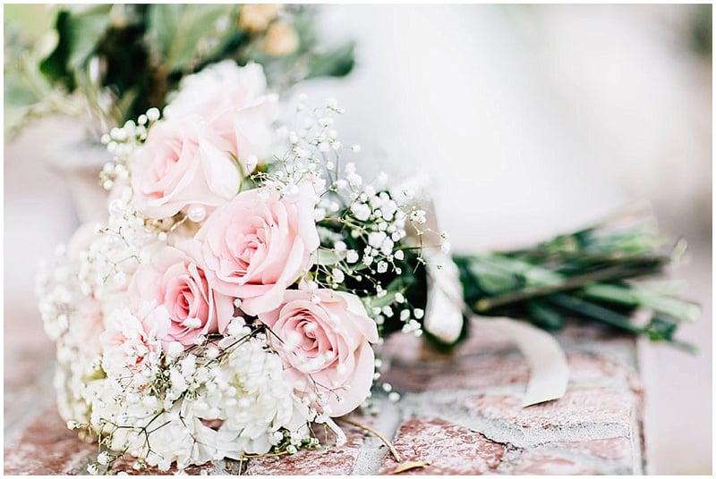 pink rose wedding bouquet