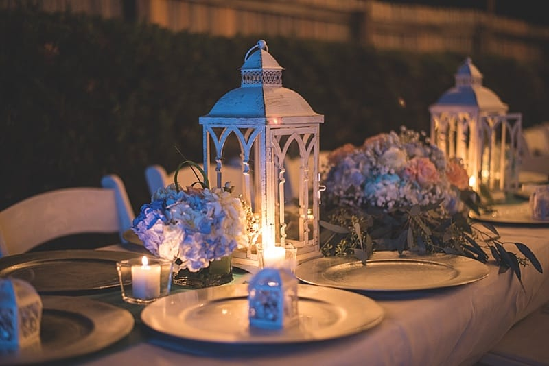 lantern and flowers decor