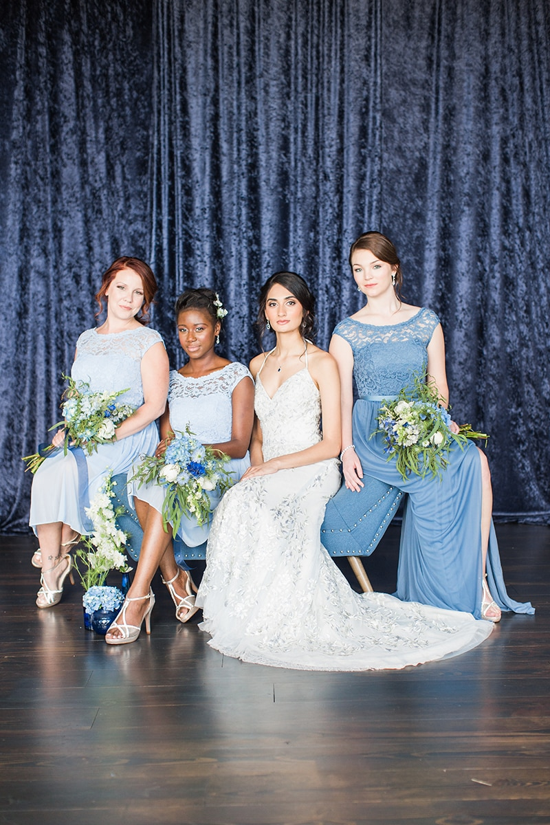 Monochromatic Wedding Inspiration by Aisle Society for David's Bridal   Photo by Cassi Claire