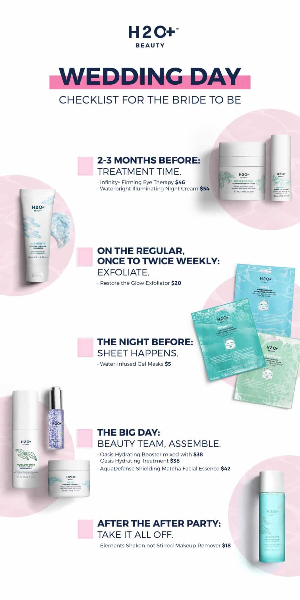 The PERFECT bridal skin care timeline and checklist! Get your skin prepped for the big day!