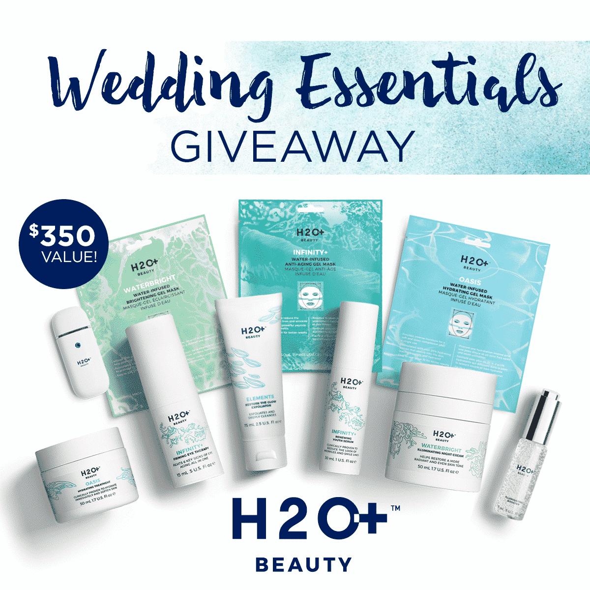h20 plus bridal skincare giveaway