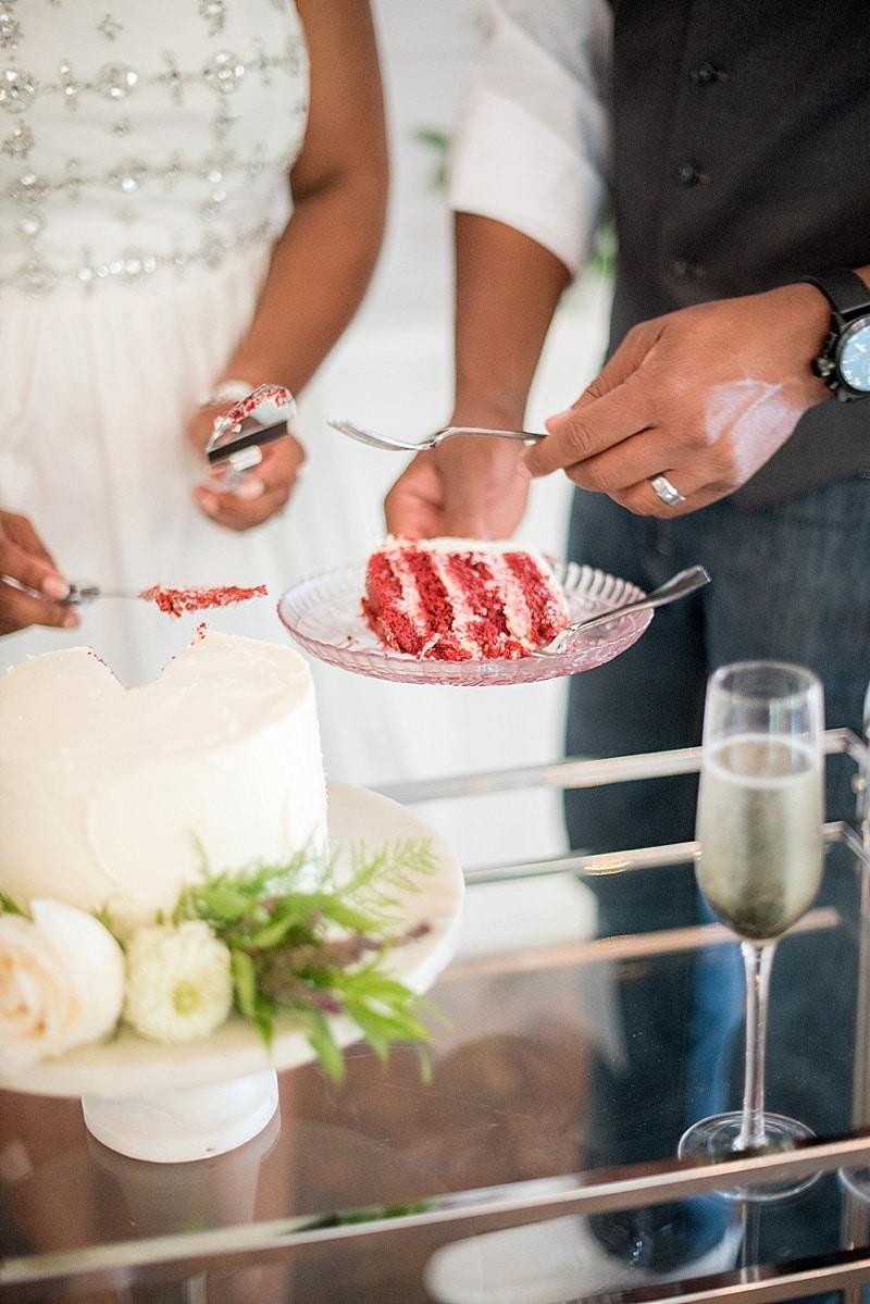 red velvet wedding cake
