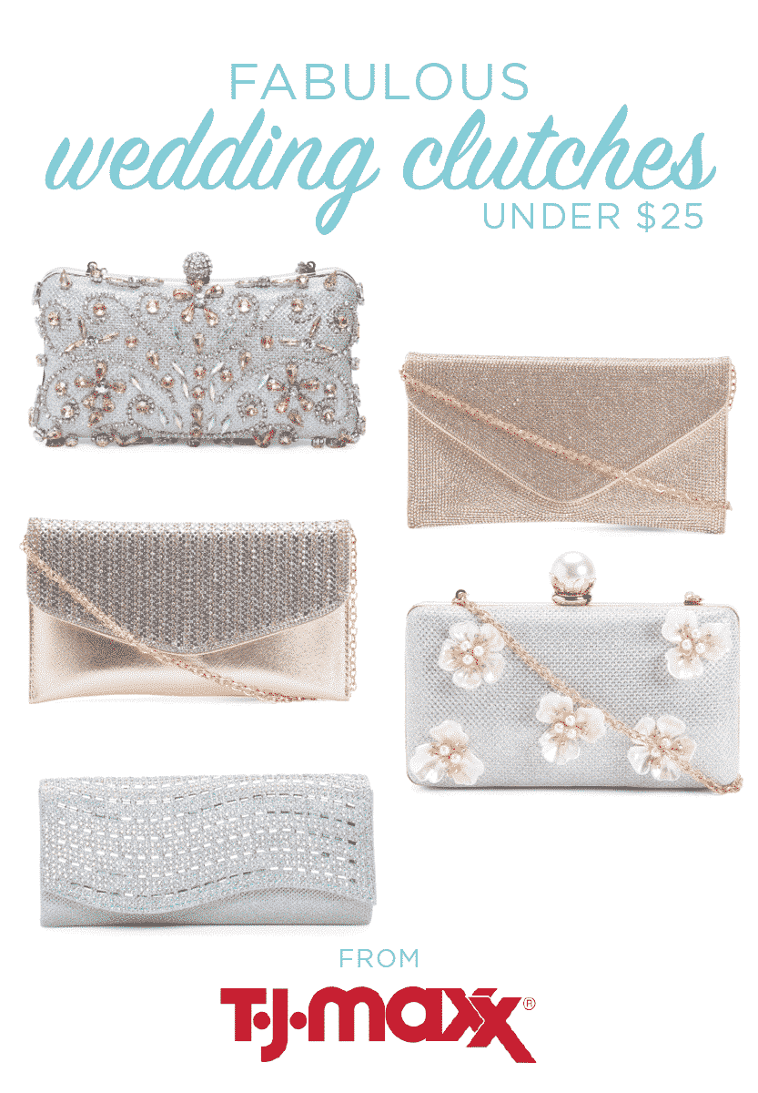 Wedding Clutches from T.J.Maxx under $25 | Savvy wedding finds