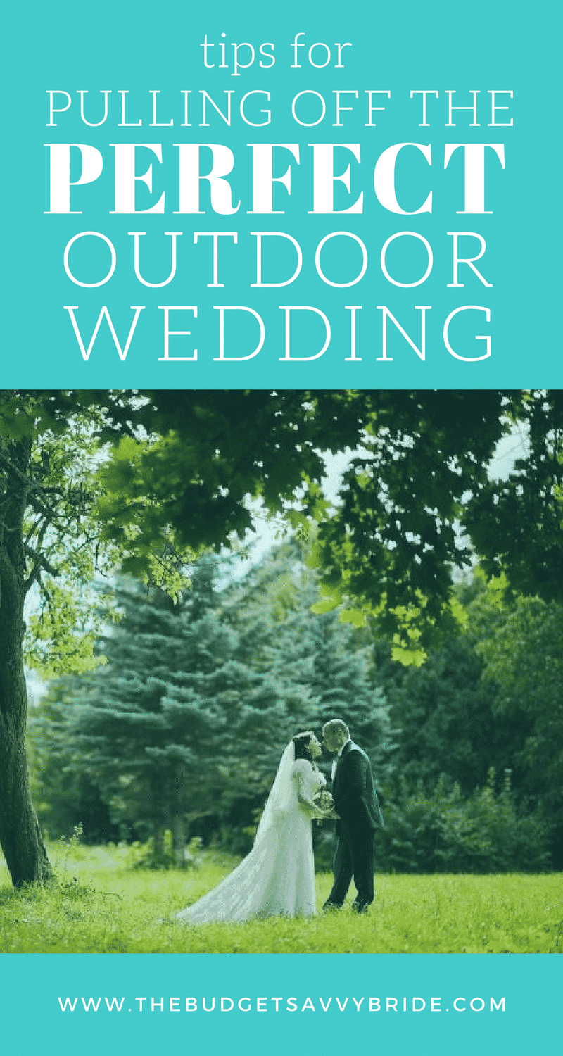 Check out these tips and advice for pulling off the perfect outdoor wedding. Everything you need to know and consider when planning an outdoor event!