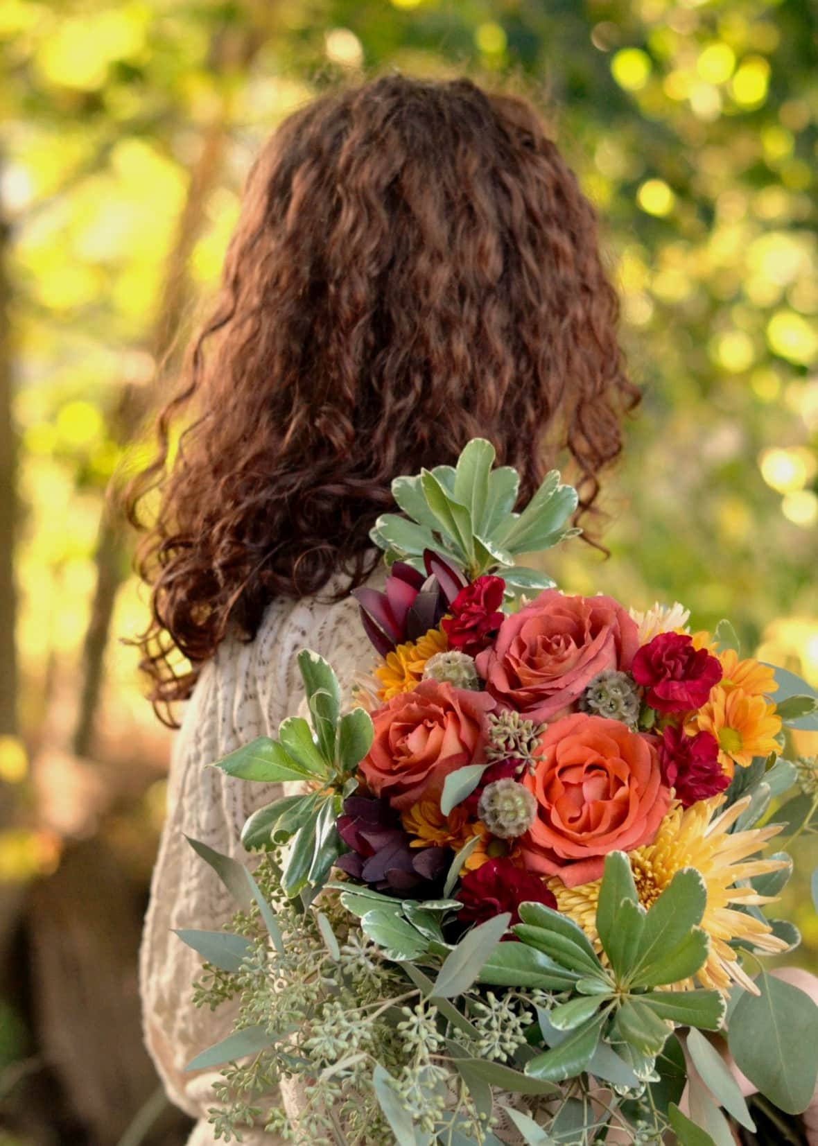 Romantic Fall Wedding Bouquet by Blooms by the Box