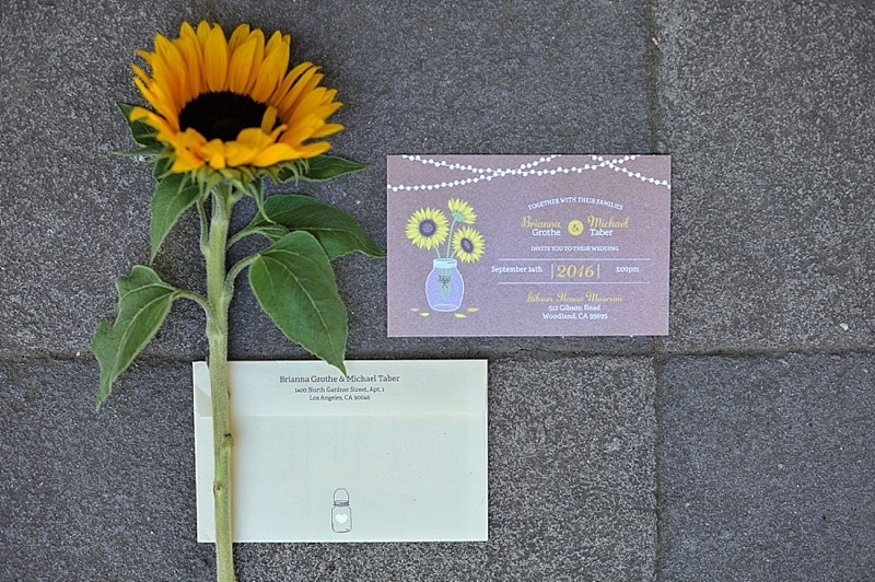 sunflower invitation suite