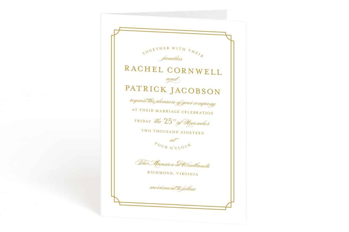 Four Panel Wedding Invitations from Minted