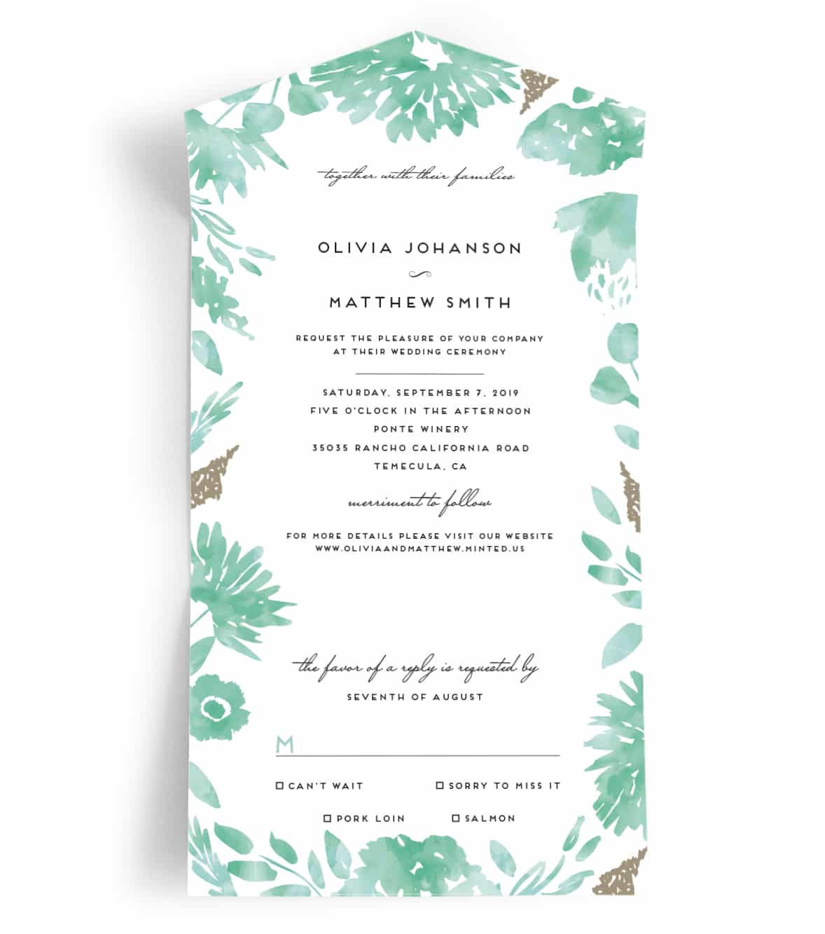 All-In-One Wedding Invitation from Minted