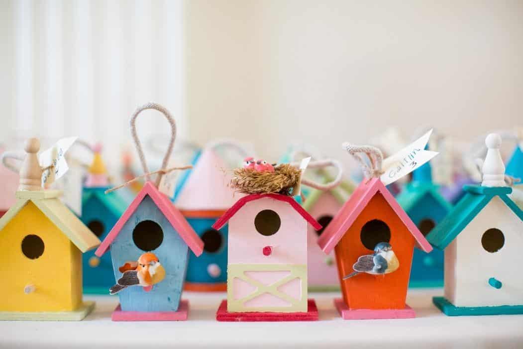 Sweet bird house wedding favors