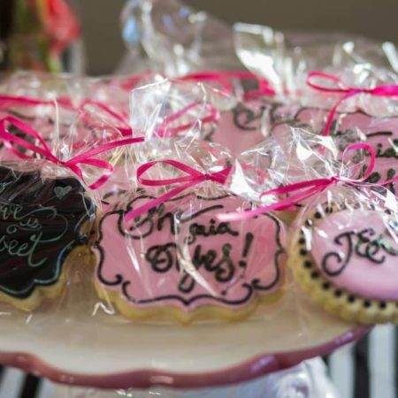 custom cookie wedding favors