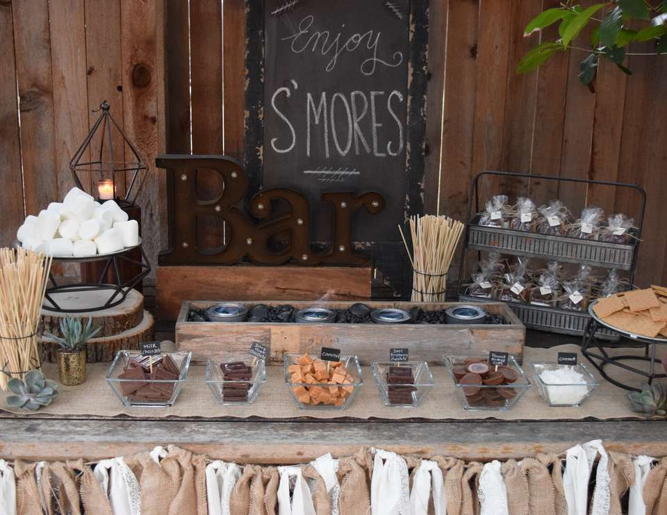 s'mores candy bar wedding favors