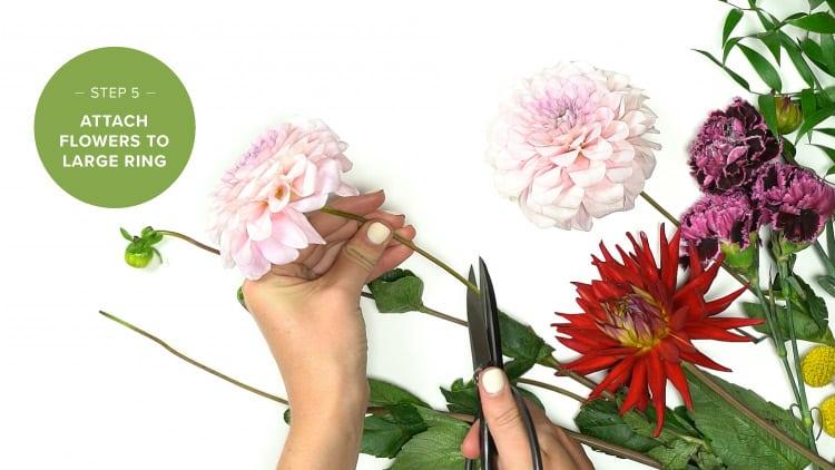 DIY Flower Chandelier Step 5