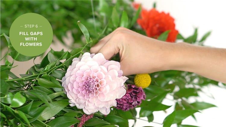 DIY Flower Chandelier Step 6
