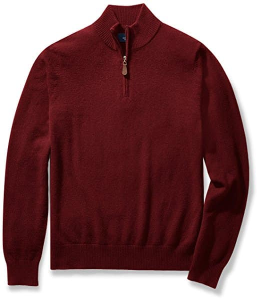 Buttoned Down Cashmere Half-Zip Pullover