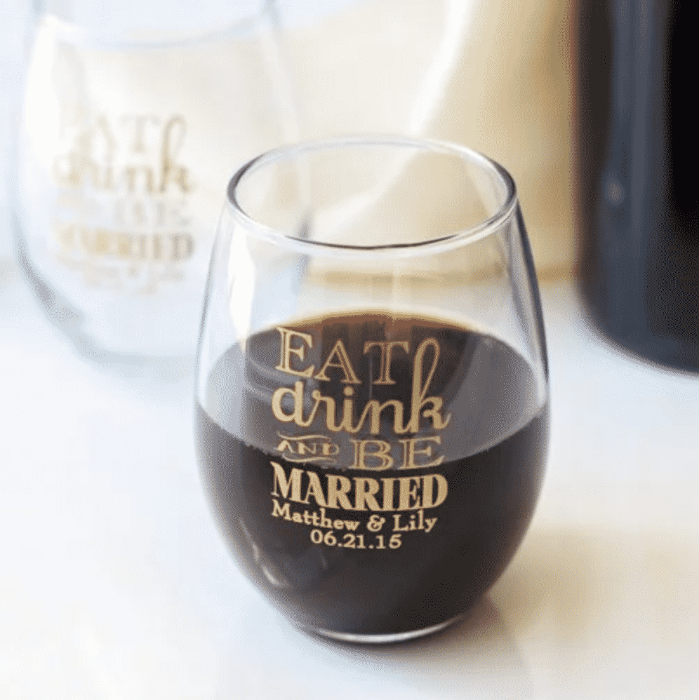 Beau-Coup Stemless Wine Glasses
