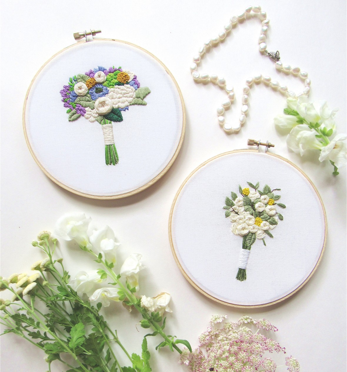 stitched bouquet