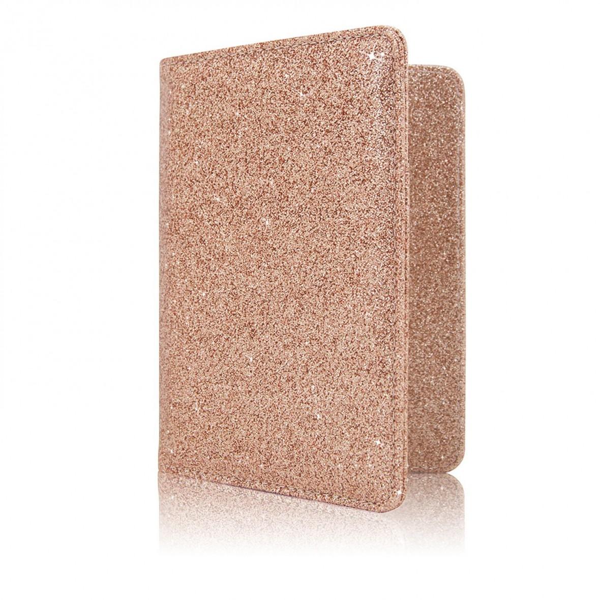 rose gold glitter passport cover