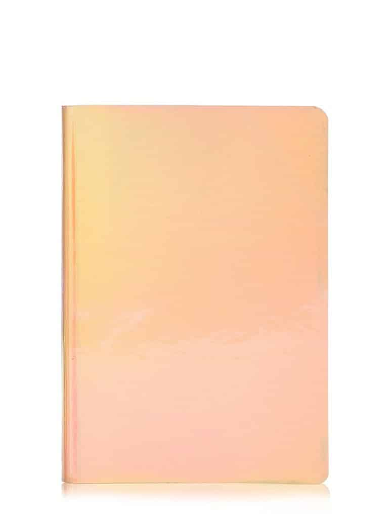 rose gold holographic notebook