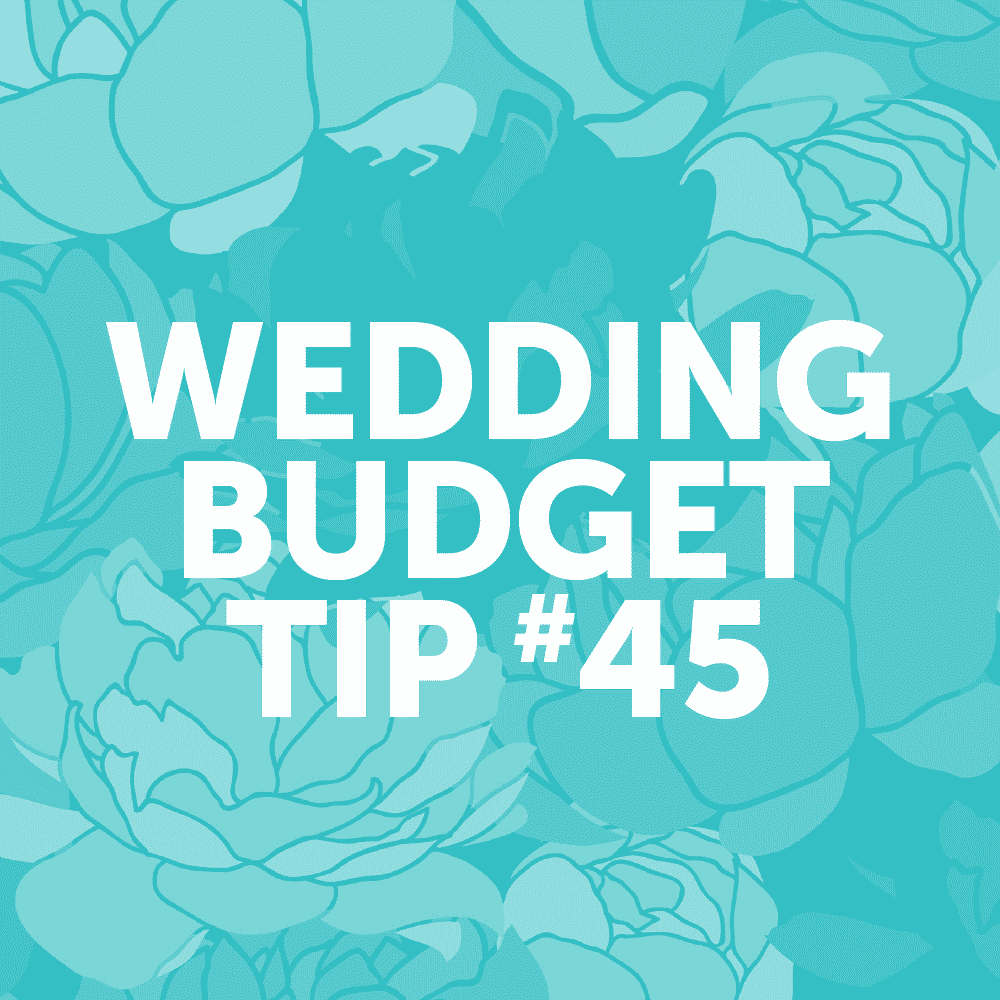 Wedding Budget Tip #45: Choose a grocery store wedding cake.