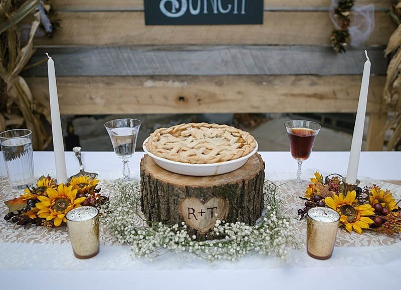 bride and groom pie
