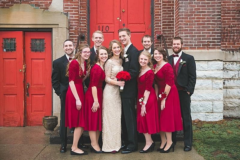 red and black wedding attire
