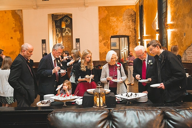 wedding appetizer reception