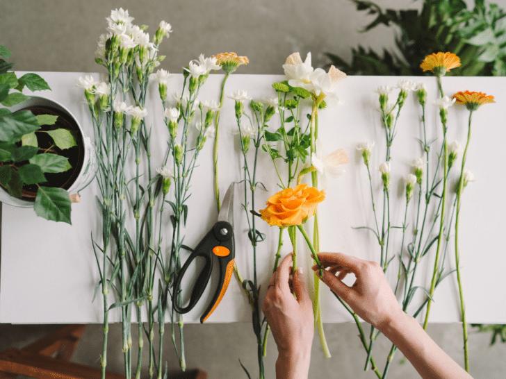 diy wedding flower arrangement