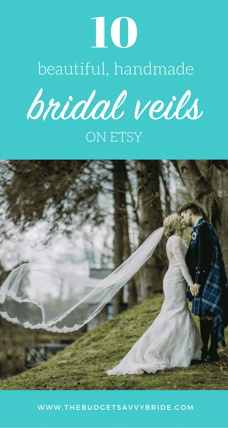 We put together a round-up of our favorite handmade wedding veils available on Etsy. Don't see the perfect one for you? Check out Etsy for more options.