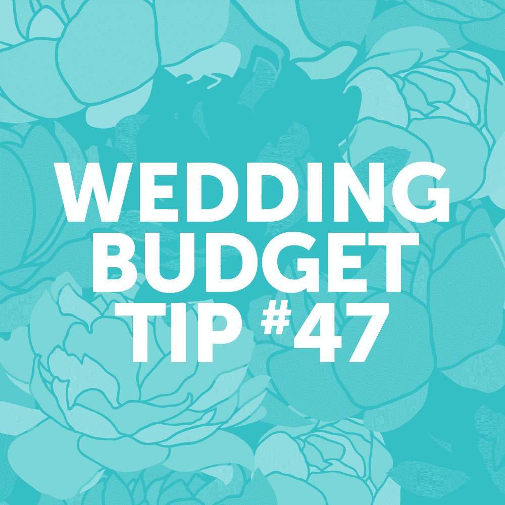Wedding Budget Tip #47: Go for buttercream over fancy fondant. Tastes better anyway!
