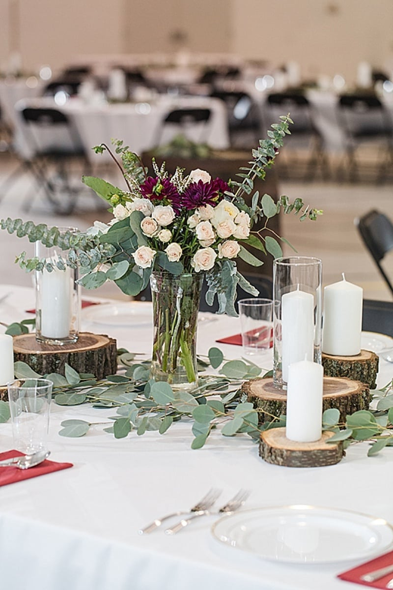 DIY reception decor