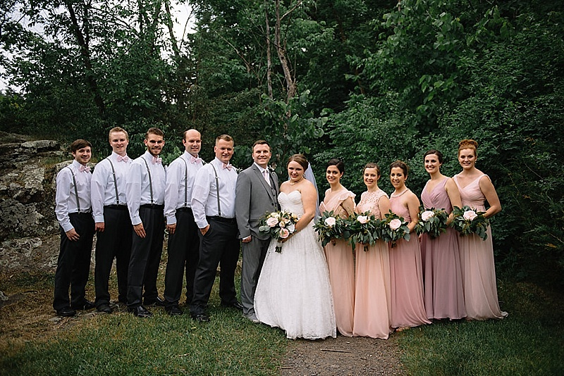 blush and gray wedding colors
