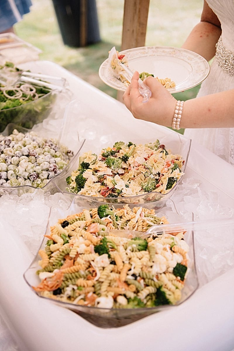 DIY wedding food
