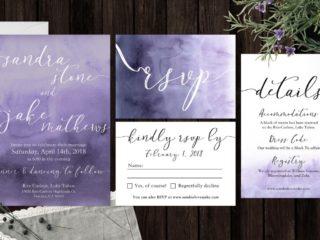 Watercolor Wedding Invitation Suite by BannerWeddings
