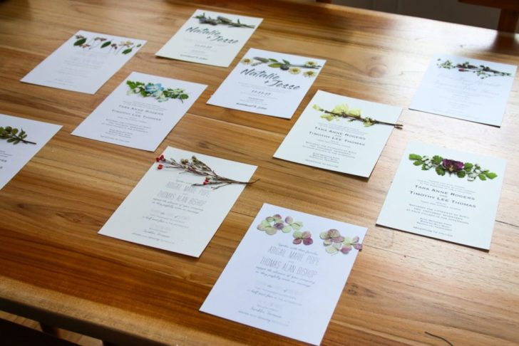 Learn how to make your own pressed flower wedding invitations for your big day! Use found flowers, leaves & petals to make unique artwork for your invites!