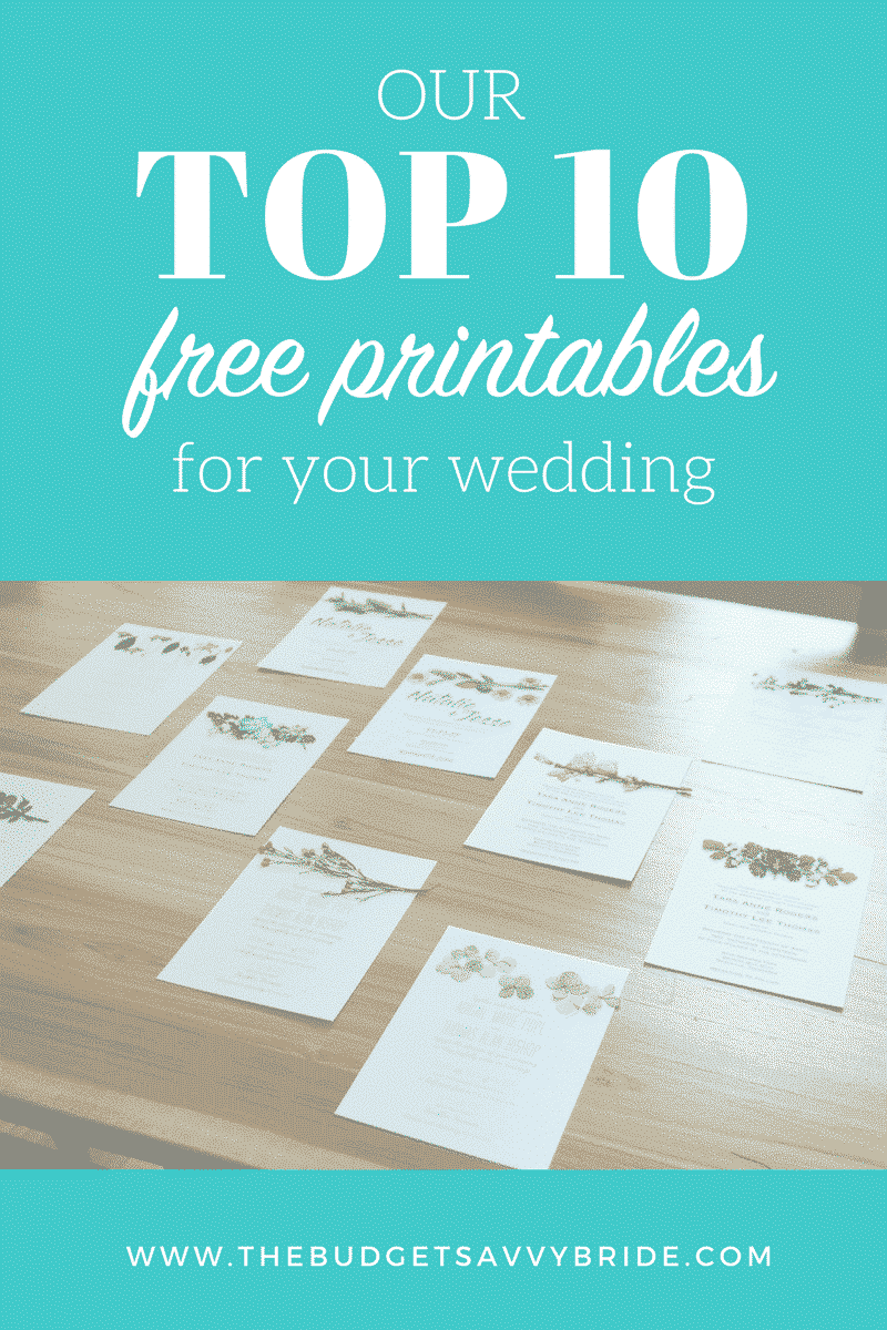 I've created numerous printables with corresponding tutorials, so I decided to put together a round-up of out top ten most popular free wedding printables.