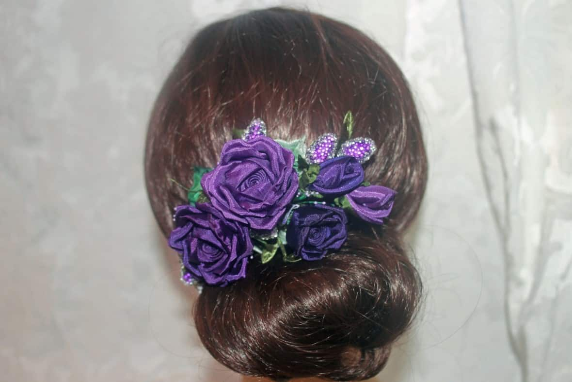 Handmade Ribbon Hair Clip by AddABloomBoutique