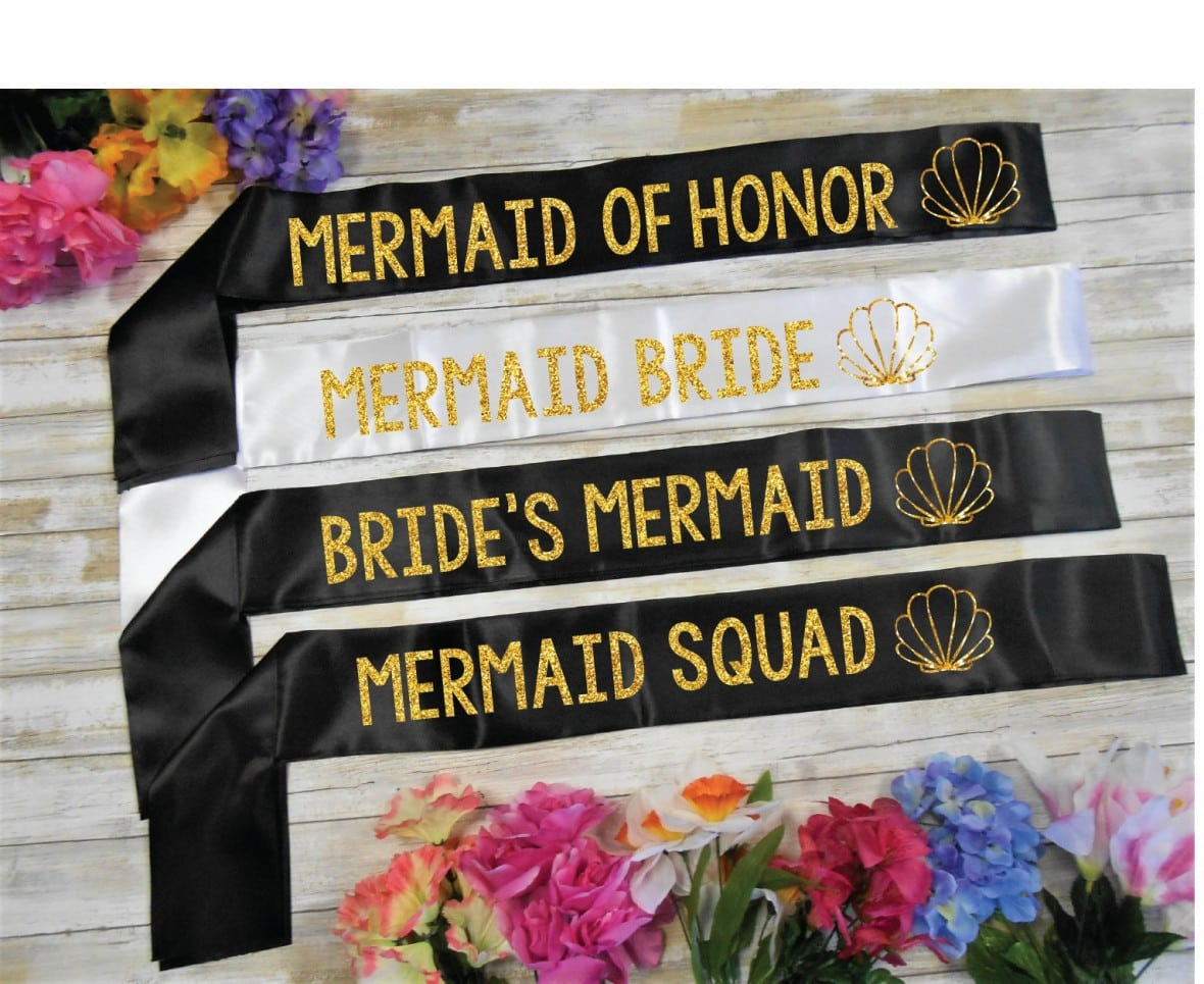 Seashell Bachelorette Party Sashes by BrideBikini